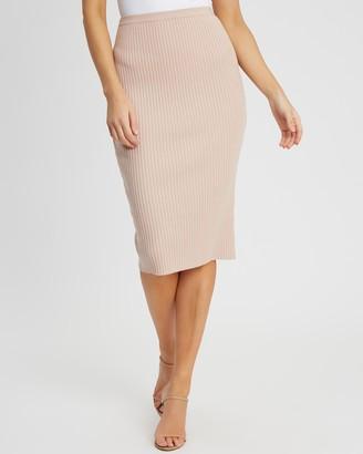 Tussah - Women's Neutrals Midi Skirts - Carolina Knit Skirt - Size 16 at The Iconic