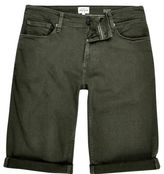 River Island Khaki Skinny Fit Denim Shorts
