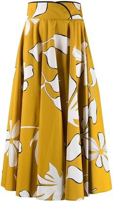 Gentry Portofino floral A-line midi skirt