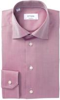 Eton Asymmetrical Stripe Contemporary Fit Dress Shirt