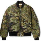 Givenchy Printed Satin-twill Bomber Jacket
