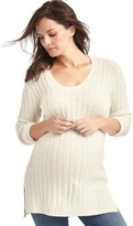 Maternity cozy scoop sweater tunic