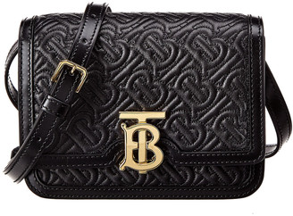 Burberry Tb Mini Monogram Quilted Leather Crossbody