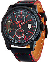 Ferrari Men's Black LEather Strap Formula Italias Watch