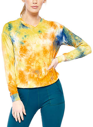 Electric Yoga Women's Tee Shirts Orange - Orange Tie-Dye Free Spirit Long-Sleeve Top - Women