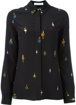 Victoria Beckham embellished shirt - women - Silk/Swarovski Crystal/Mother of Pearl - 44