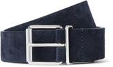 Anderson's - 3cm Navy Suede Belt