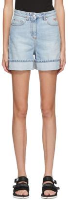 MSGM Blue Denim Rolled Cuffs Shorts