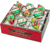 Christopher Radko Shiny Brite Holiday Splendor Tulips With Reflectors & Rounds Boxed Ornaments, 9-pc. Set
