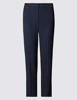 M&S Collection PETITE Grosgrain Trim Slim Leg Trousers