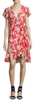 Sachin + Babi Lincoln Floral Wrap Dress, Red