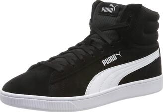 Puma Women's Vikky V2 MID Hi-Top Trainers Black Black White Silver-Pink Alert 01 3.5 (36 EU)