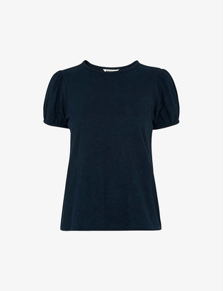 Whistles Puffed-sleeve cotton-jersey T-shirt