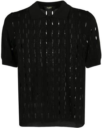 Fendi Open Knit Polo Shirt