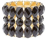 Charlotte Russe Faceted Gemstone Stretch Cuff Bracelet