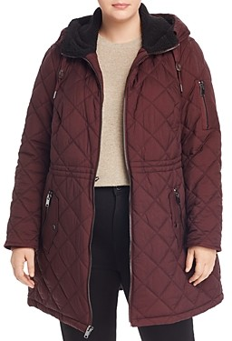 Andrew Marc Plus Cascade Hooded & Quilted Parka