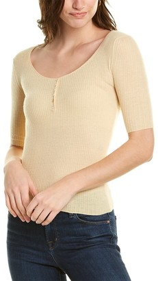 Vince Scoop Neck Cashmere Henley