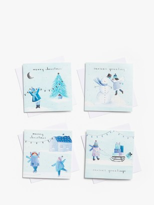 John Lewis & Partners Snow Scene Charity Christmas Cards, Pack of 28