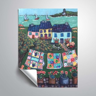 ArtWall Cottages and Quilts, Removable Wall Art Mural by Holly Wojahn