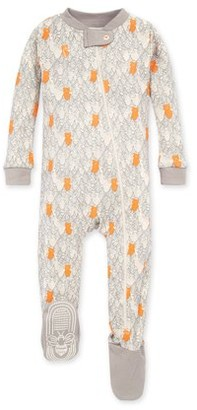 Burt's Bees Baby Organic Baby Boys 1-Piece Snug Fit Sleeper Footed Pajamas (12M-24M)