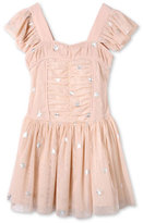 Stella McCartney Jojo Sleeveless Star-Print Tulle Dress, Pink, Size 4-14