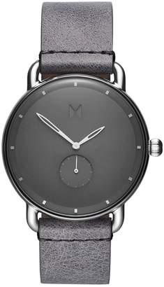MVMT Revolver Gotham Stainless Steel Leather-Strap Watch