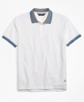 Brooks Brothers Slim Fit Tipped Collar Polo Shirt