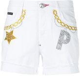 Philipp Plein Gelsomino denim shorts - women - Cotton/Spandex/Elastane - 25