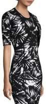 Michael Kors Palm Leaf-Print Shrug
