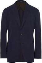 Ermenegildo Zegna Navy Slim-Fit Unstructured Cotton and Cashmere-Blend Twill Blazer