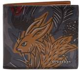 Burberry Beasts-print bi-fold leather wallet