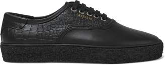 Axel Arigato Croc-effect And Smooth Leather Sneakers