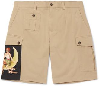 Dolce & Gabbana Appliqued Stretch Cotton-Gabardine Shorts