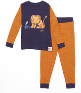 Intimo Navy & Orange Eric Carle Lion Pajama Set - Infant