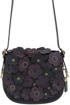 Coach Medium Saddle Rose Appliqués Leather Bag