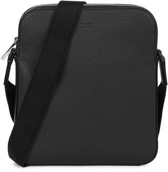 HUGO BOSS Crosstown black leather cross-body bag
