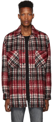 Faith Connexion Red and Black Tweed Check Shirt