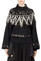 Sacai Wool Beaded Pullover