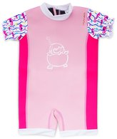 Cheekaaboo Baby Thermal Chittybabes Swimsuit [Under The Sea Collection]- Light Pink/Sea Horse(12-18Months)