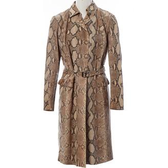 Gucci Beige Python Coat for Women