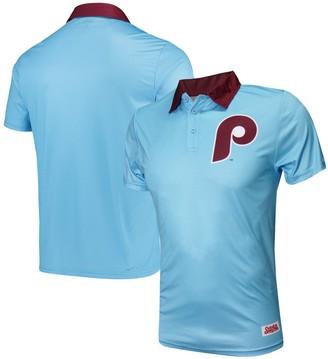 Stitches Men's Light Blue Philadelphia Phillies Sublimated Polo
