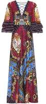 Etro Printed silk maxi dress