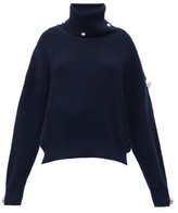 Christopher Kane Dome-embellished Roll-neck Sweater - Womens - Navy