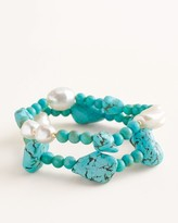 Chico's Chicos Simulated Turquoise Stretch Bracelet Set