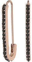 Rebecca Minkoff Mini Pave Safety Pin Earrings