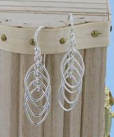 Kanishka Women's Earrings Silver - Sterling Silver Cutout Marquise Drop Earrings
