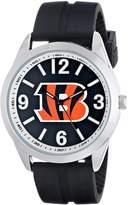 Game Time Men's NFL-VAR-CIN Varsity Analog Display Japanese Quartz Black Watch