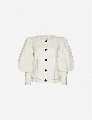 Designers Remix Abby mandarin-collar linen and cotton-blend shirt