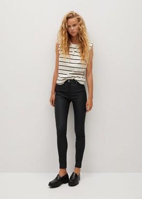 MANGO Coated High waist skinny Noa jeans