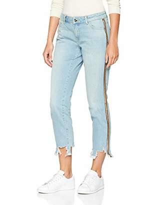 Talkabout Women's Hose Jeans verkürzt Straight (Blue Denim Fancy 808253), 40 W/28 L